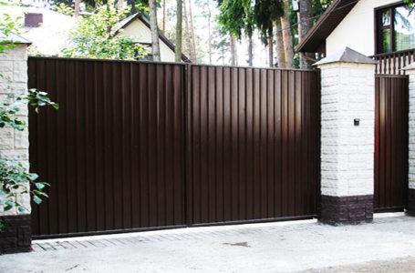 Ворота из профнастила. Установка и техническая подготовка.